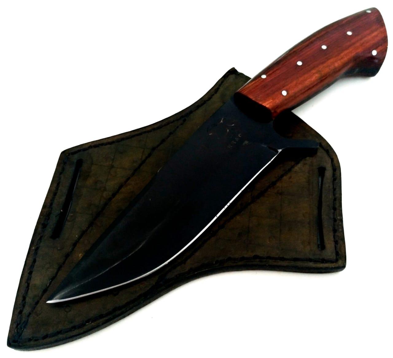 Faca artesanal de caça verraco red death 6 polegadas