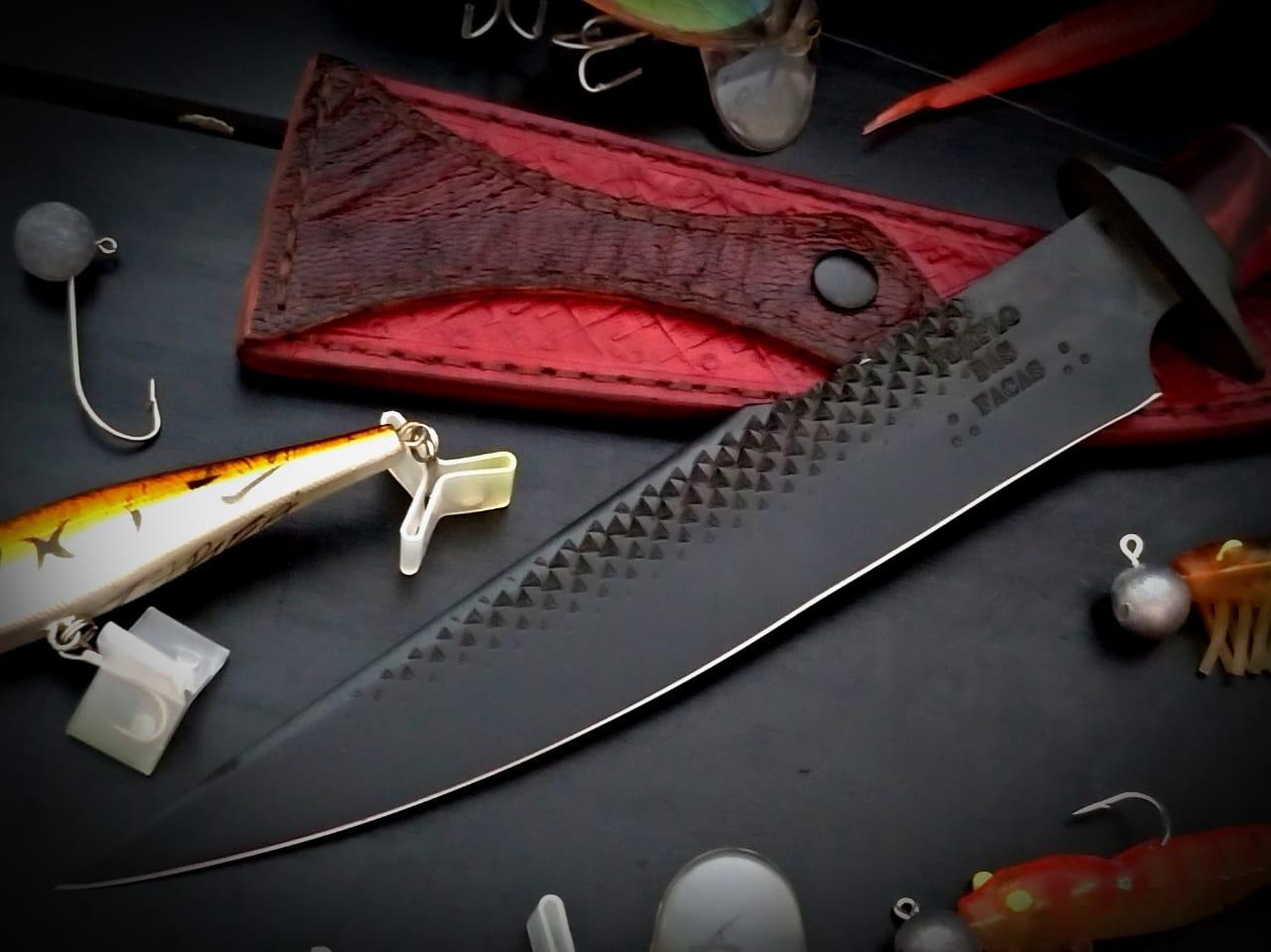 Faca artesanal de grosa hunter custom