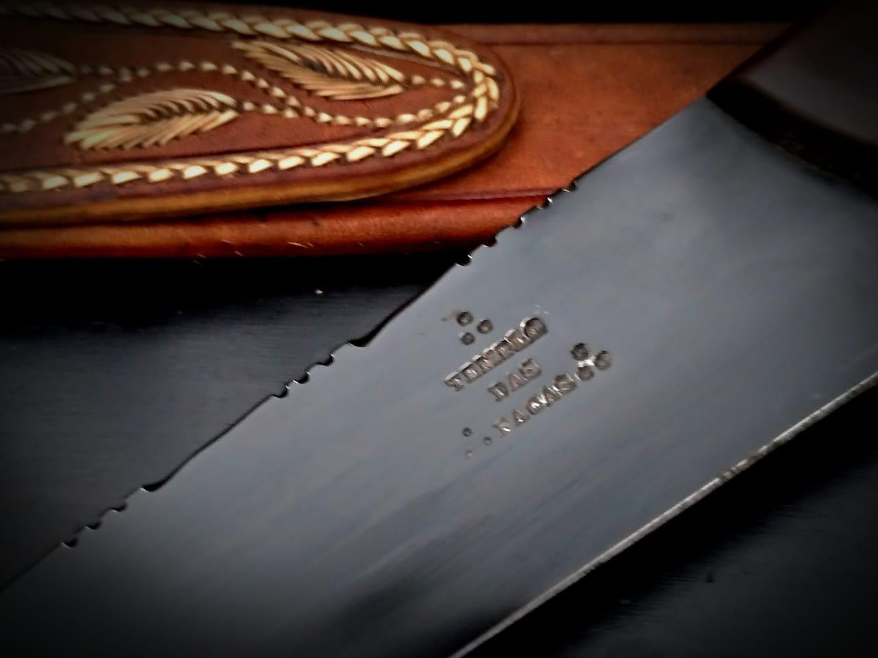 Faca artesanal de lida aço carbono 12 polegadas