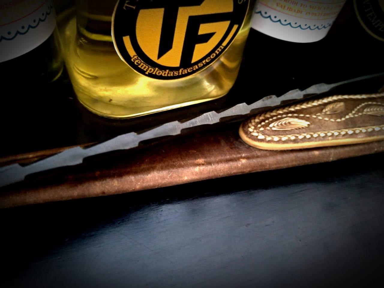 Faca artesanal forjada de antiga  lima Suiça LGHCBEI 12 polegadas