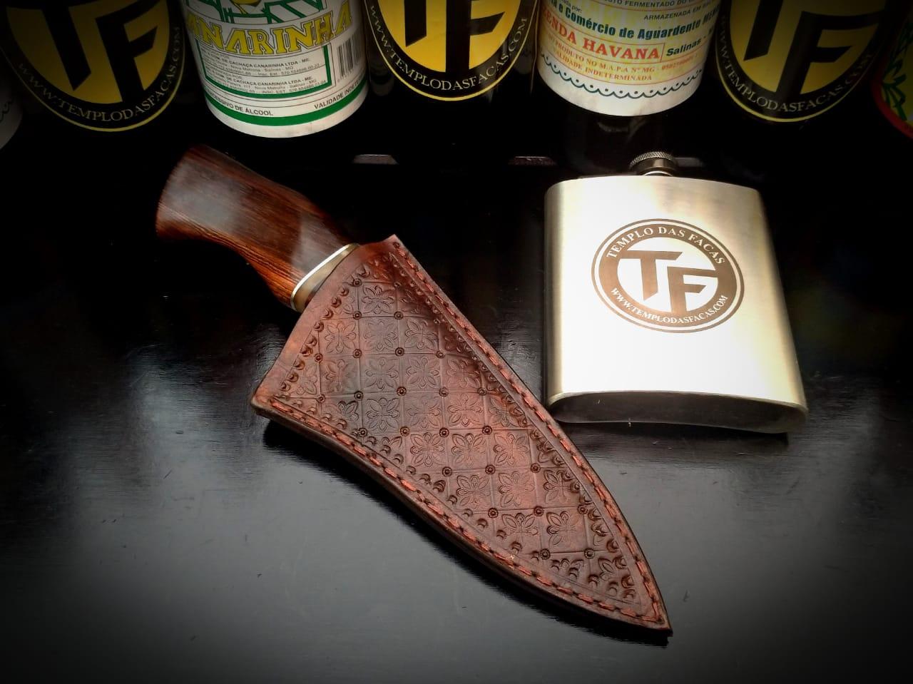 Faca artesanal forjada de grosa antiga hunter 4 polegadas