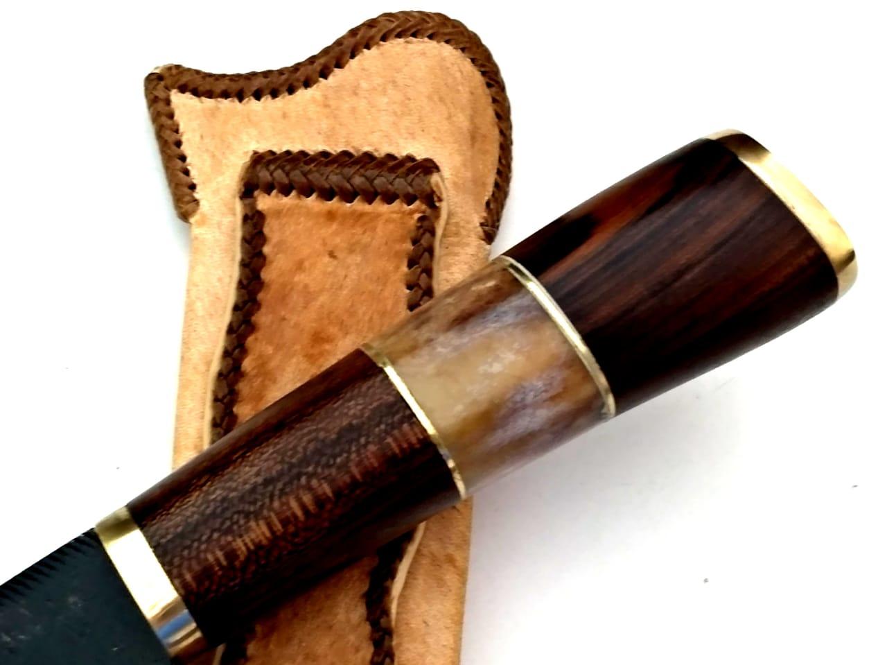 Faca artesanal forjada de lima antiga 8 polegadas
