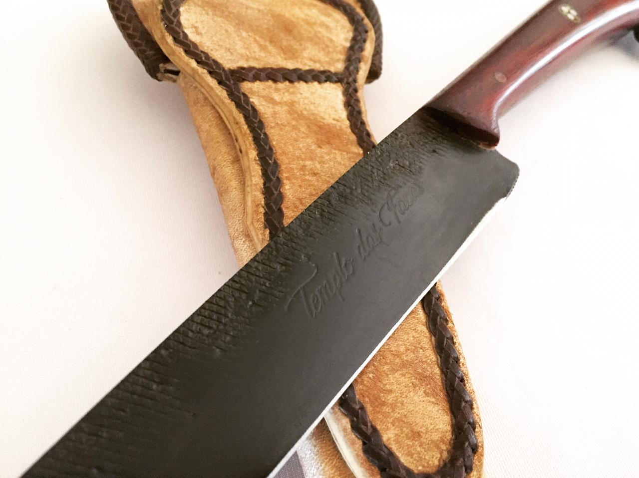 Faca artesanal forjada de lima antiga 9 polegadas