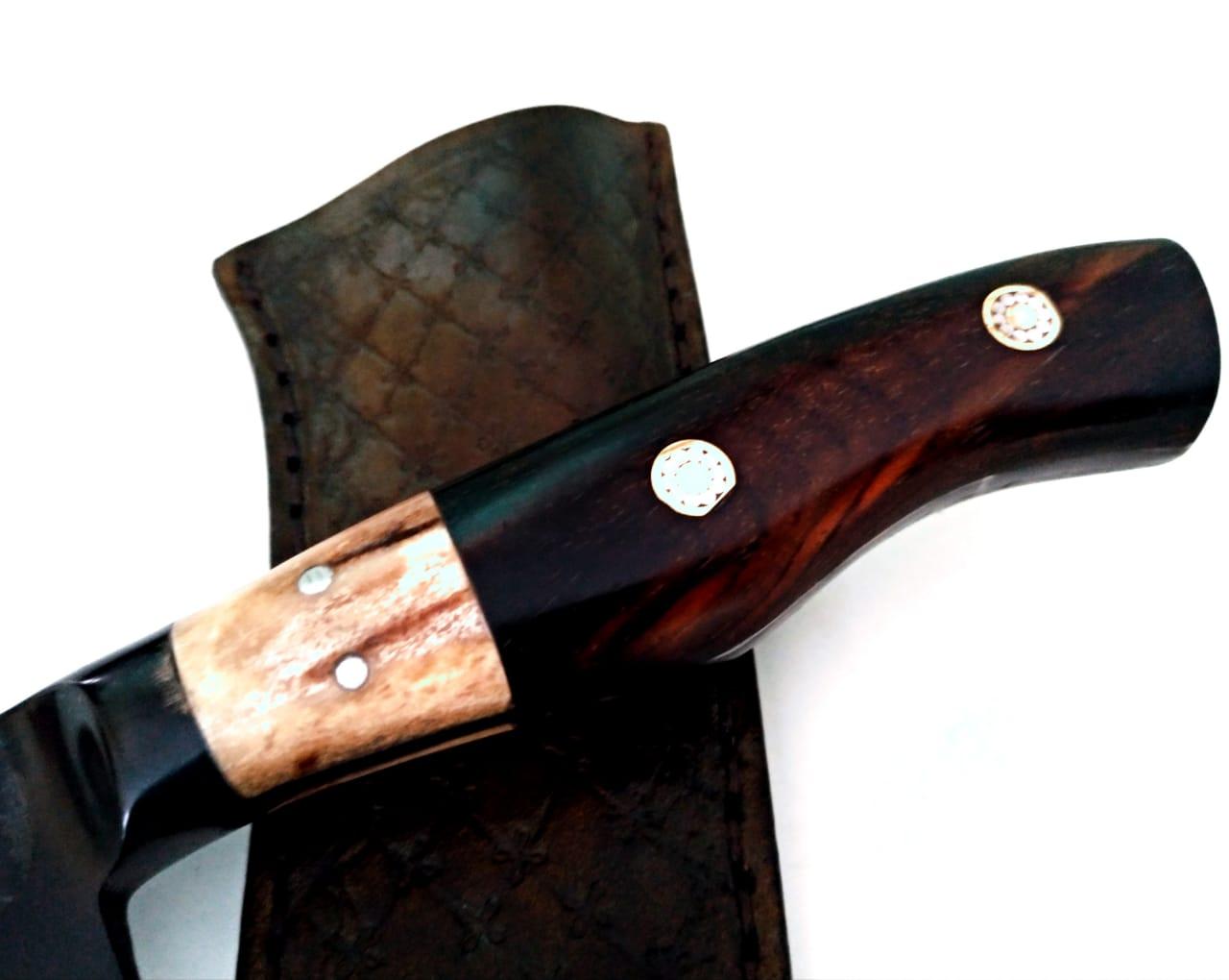 Faca artesanal forjada full tang 6 polegadas