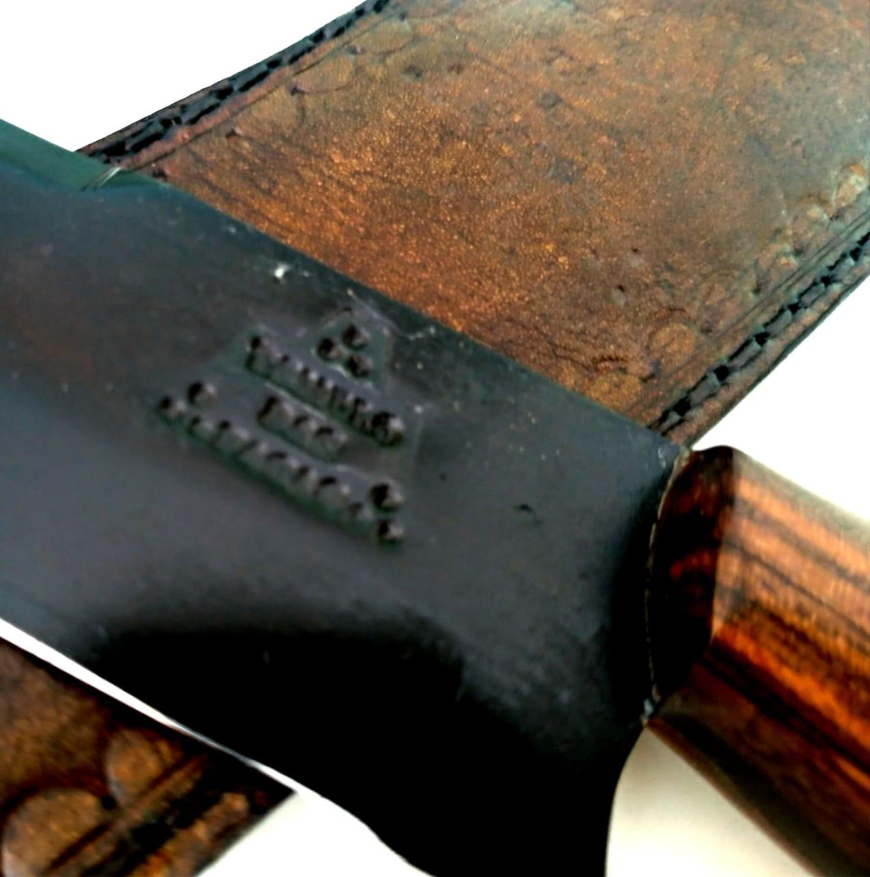 Faca artesanal full tang estilo sorocabana 12 polegadas