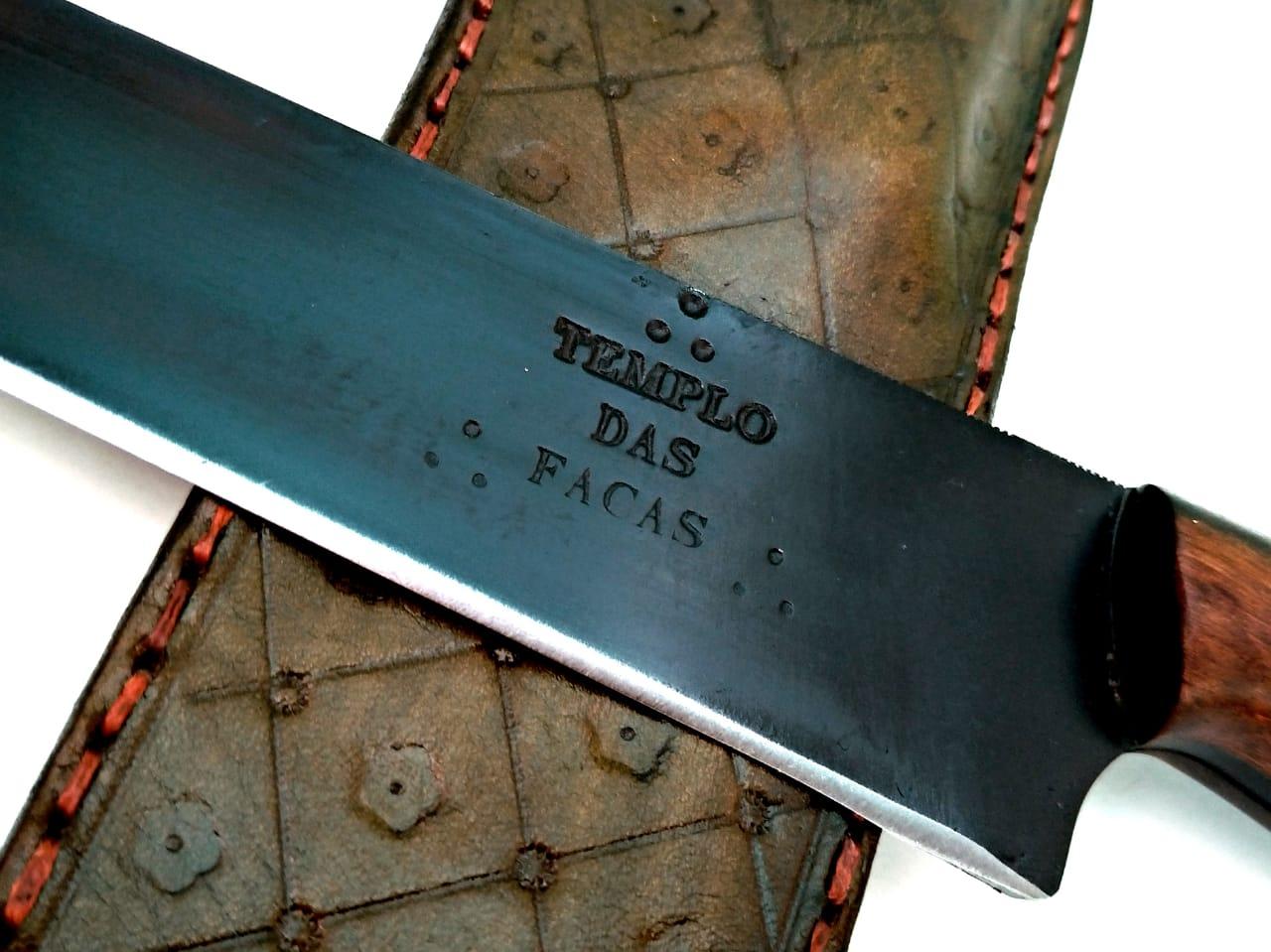 Faca artesanal full tang sangria negra 12 polegadas