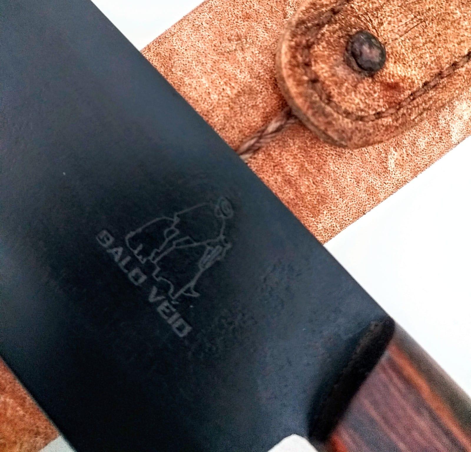 Faca artesanal galo veio aço carbono 12 polegadas