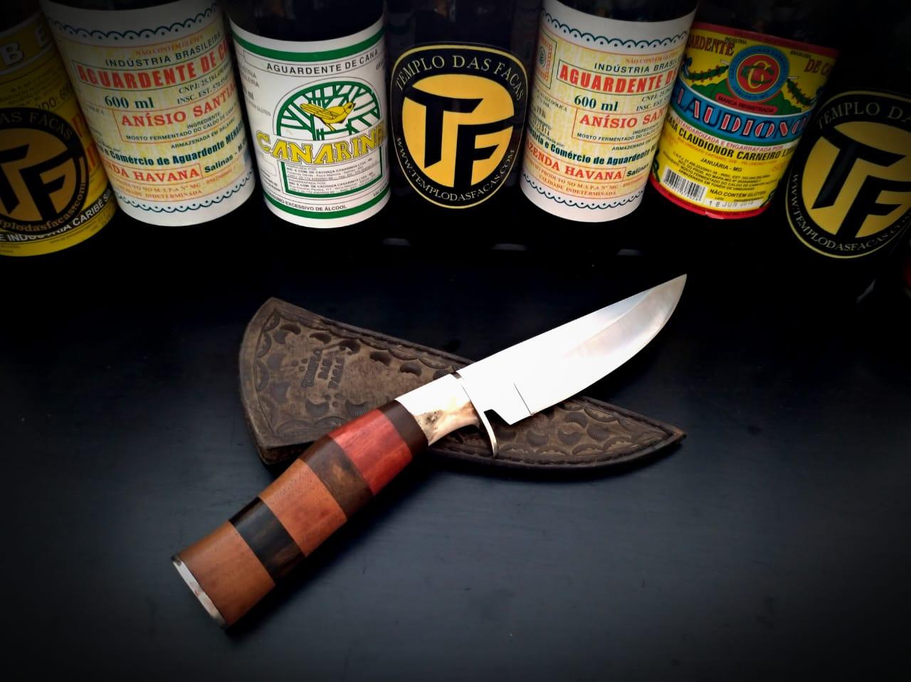 Faca artesanal inox Hunter Axis Mix Wood