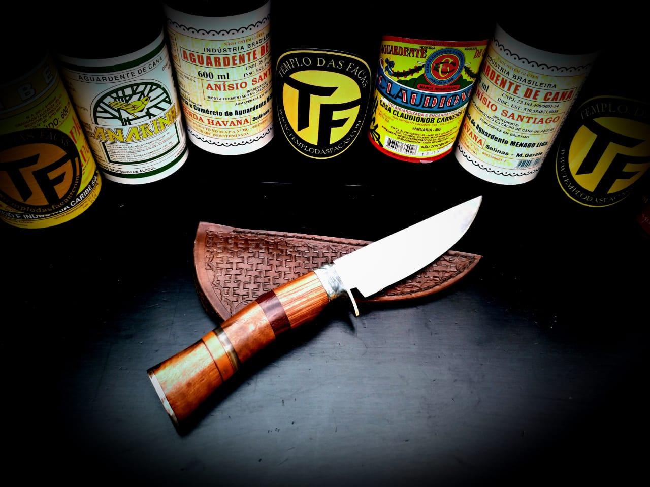 Faca artesanal inox Hunter Ice Mix Wood