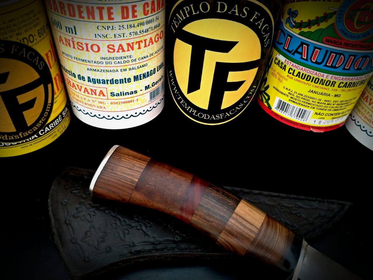 Faca artesanal inox Hunter Mix Iron Wood