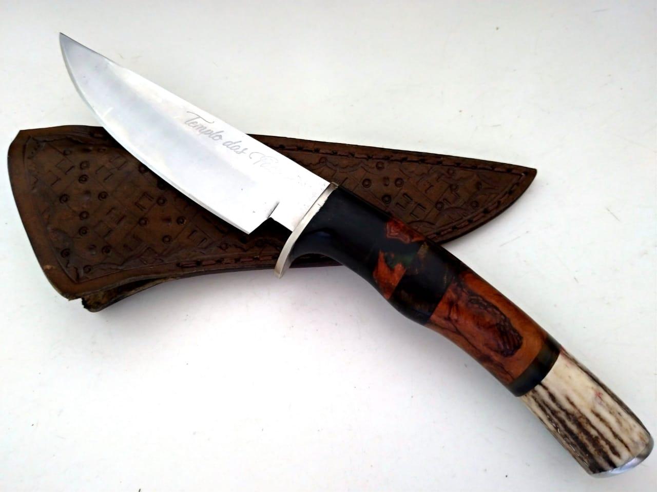Faca artesanal inox Hunter Savage Green