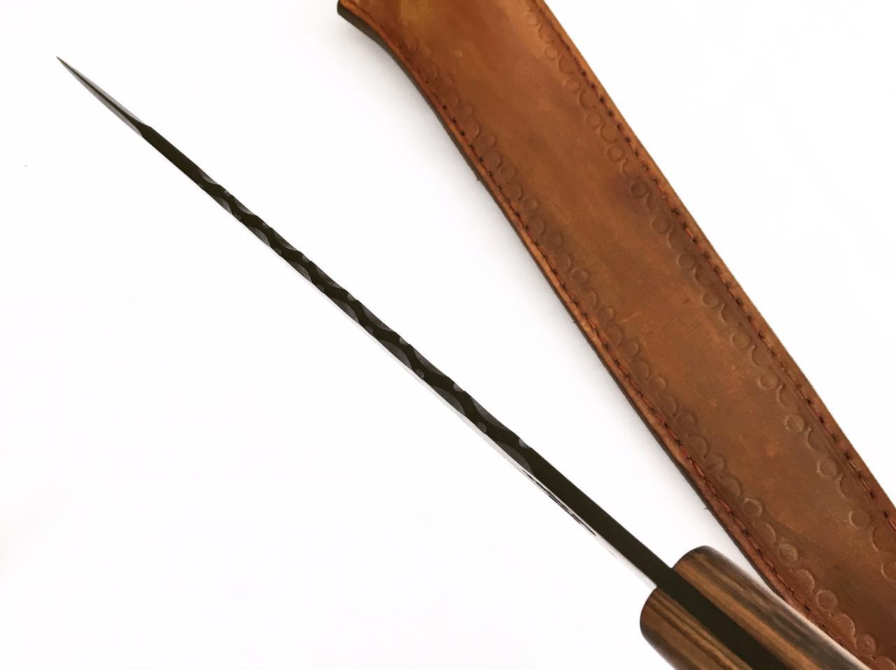 Faca artesanal javalizeira negra 12 polegadas