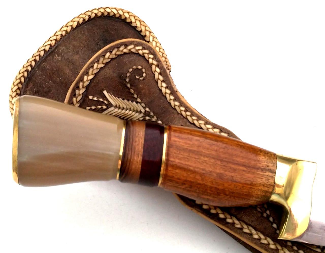 Faca artesanal língua de chimango 12 polegadas