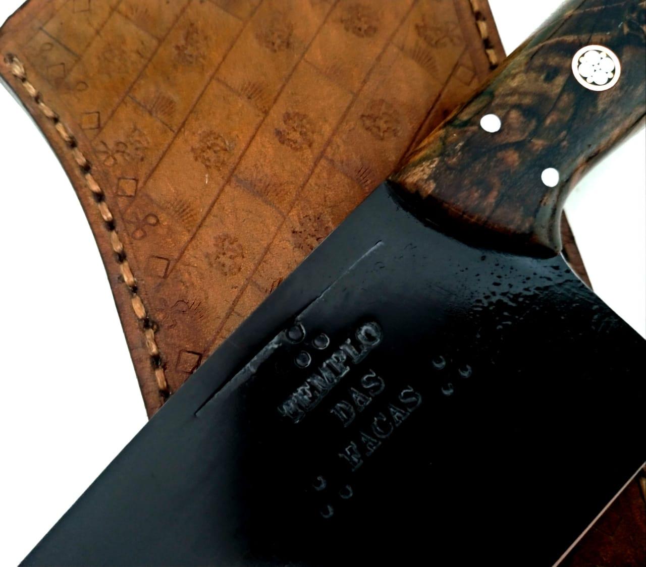 Faca artesanal negra aço carbono chef absolut 10 polegadas