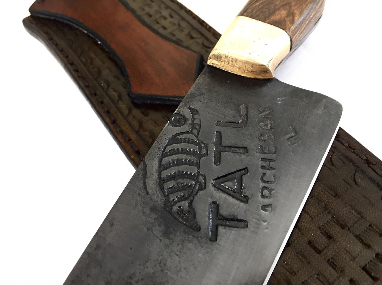 Faca artesanal negra disco de arado tatu marchesan 10 polegadas