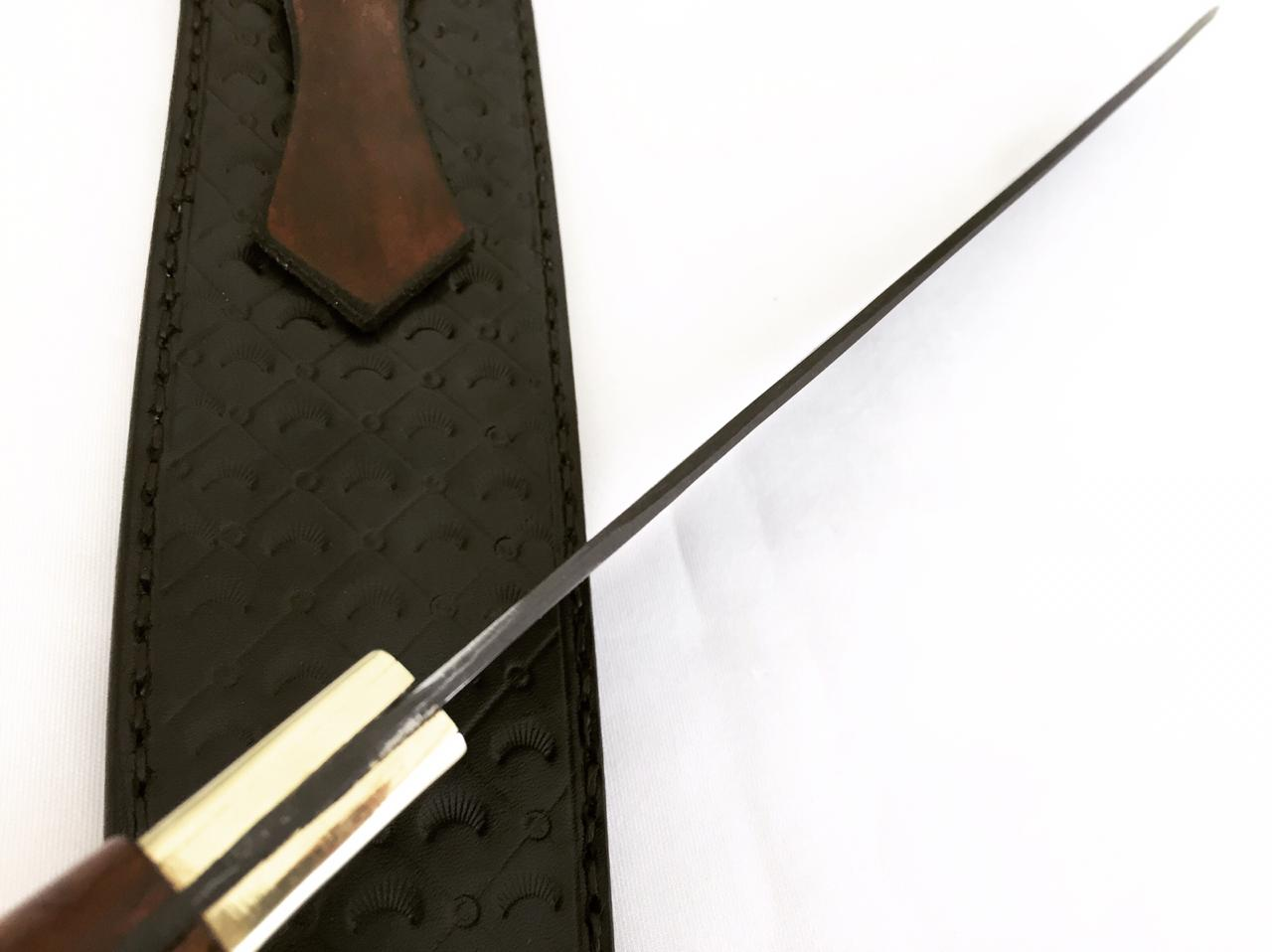 Faca artesanal negra disco de arado tatu marchesan 12 polegadas