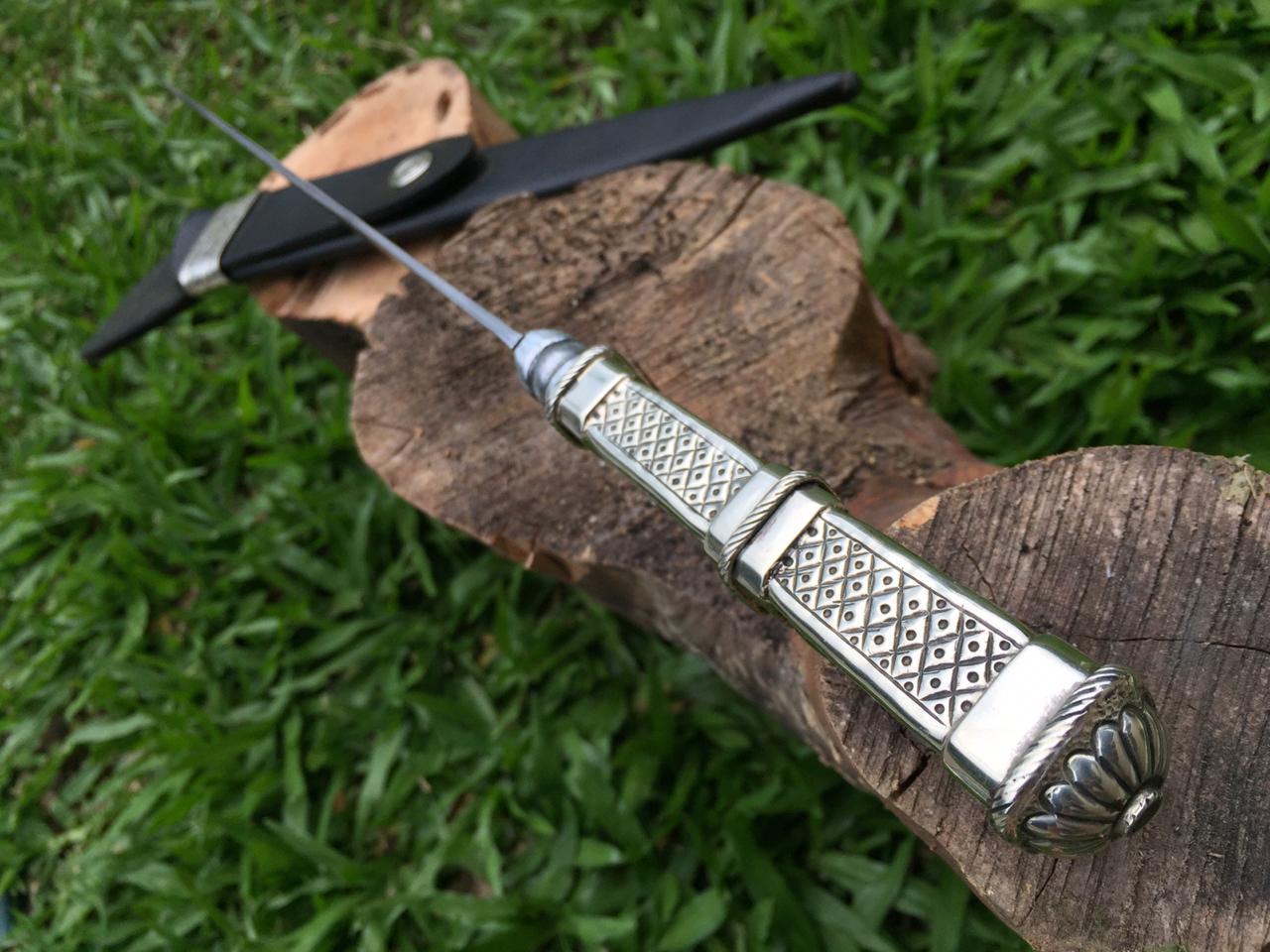 Faca artesanal picassa antiga 9 polegadas