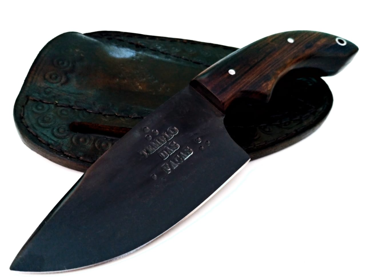 Faca artesanal skinner forjada em aço carbono 3,5 polegadas