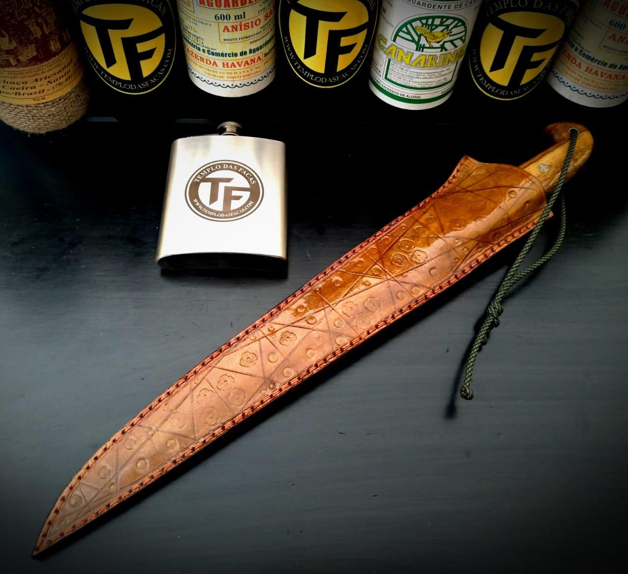 Faca artesanal templo das facas modelo jack boar 12 polegadas