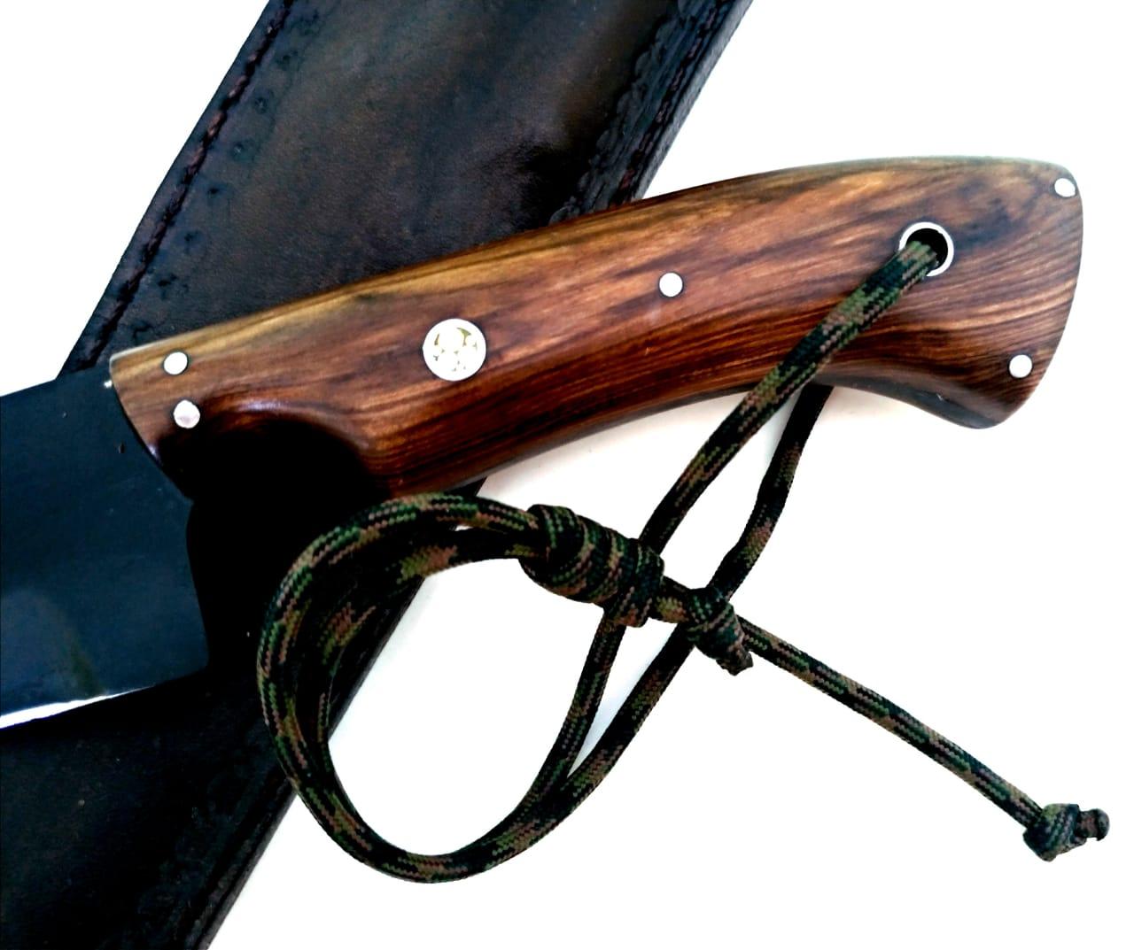 Faca artesanal templo das facas modelo parkah 12 polegadas