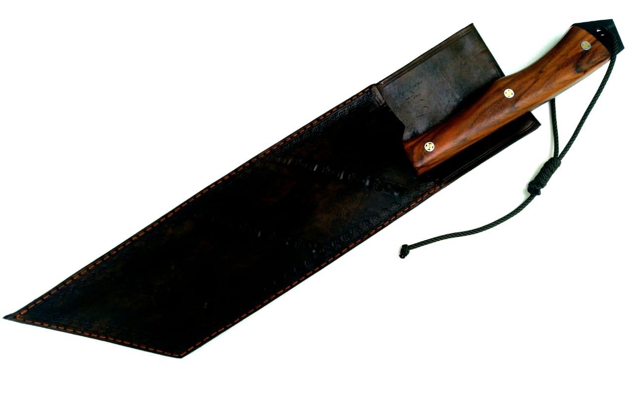 Faca artesanal templo das facas modelo tier boar 13 polegadas