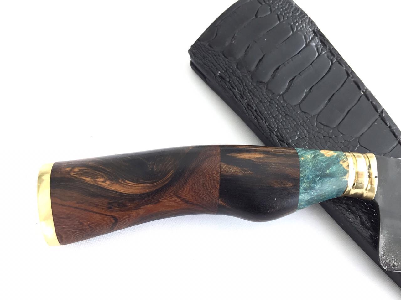 Faca artesanal tesoura de tosquia estabilizada
