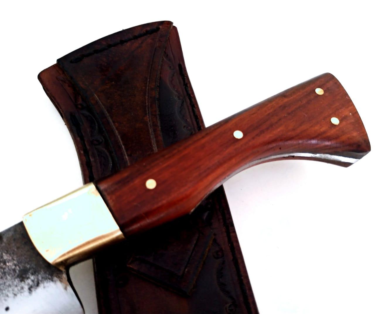 Faca artesanal tf língua de chimango aço carbono 12 polegadas