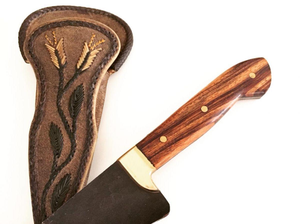 Faca artesanal estilo tesoura de tosquia marca rara
