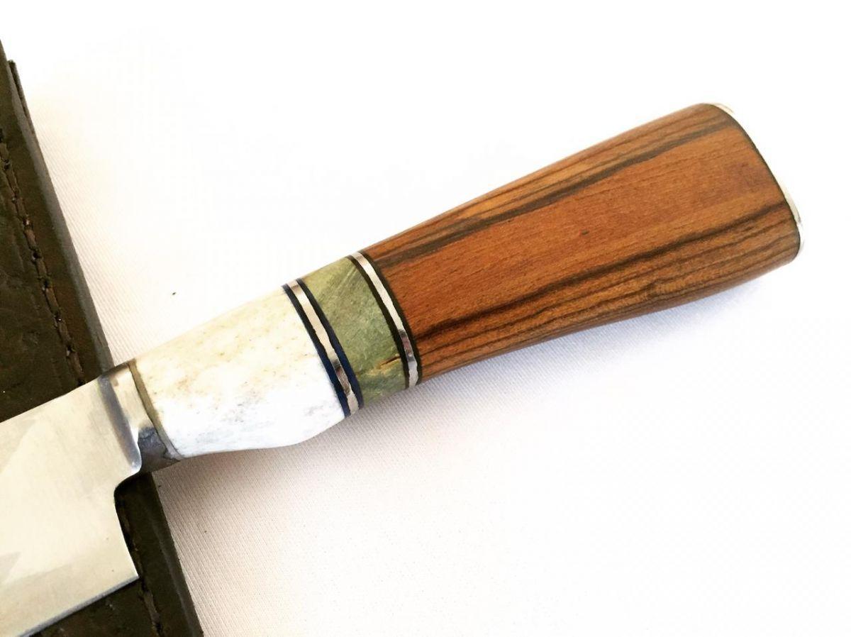 Faca artesanal forjada integral aço inox 420-C