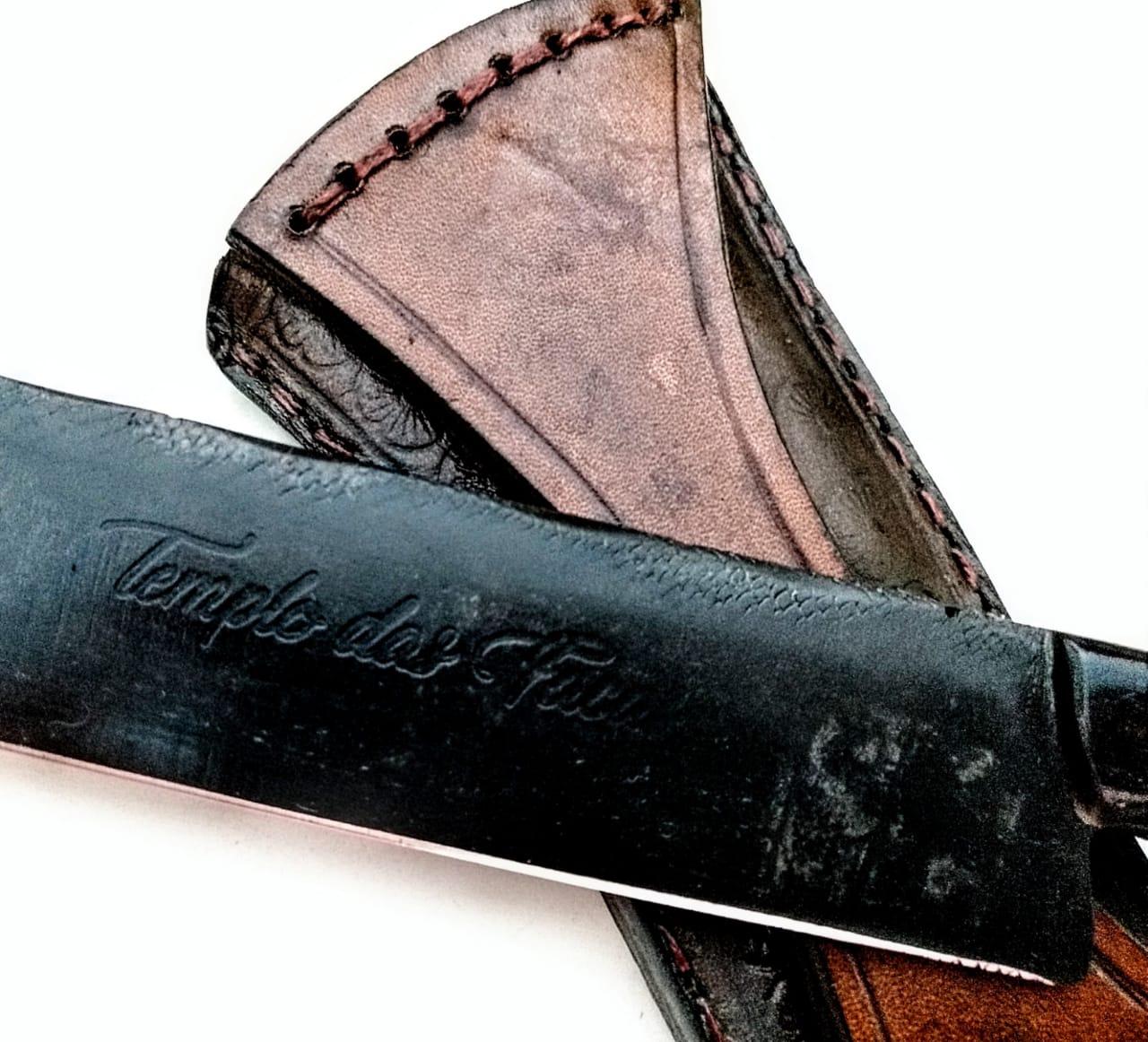 Faca forjada de antiga lima alemã 14 polegadas