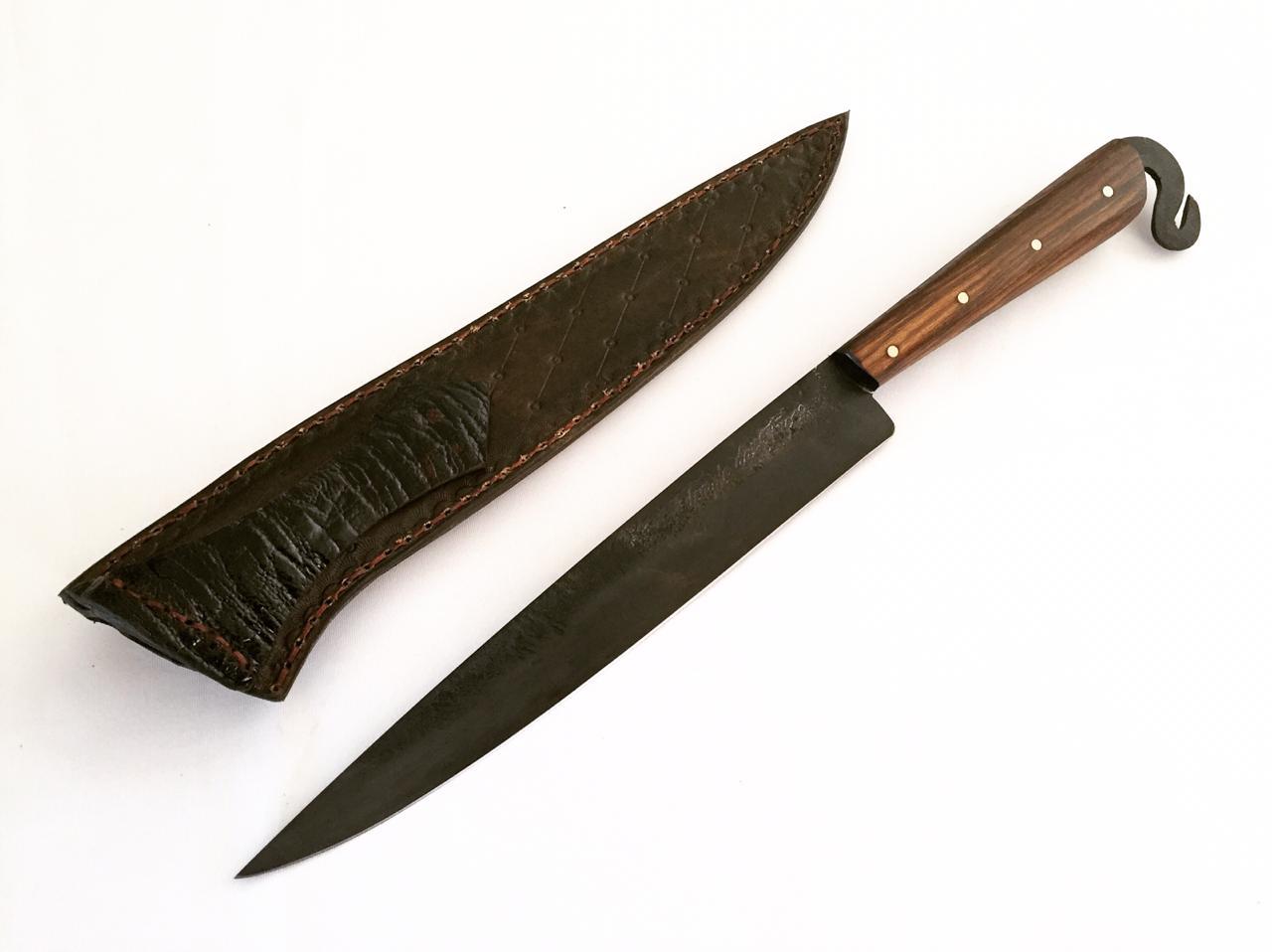 Faca forjada negra de disco de arado antigo 9 polegadas