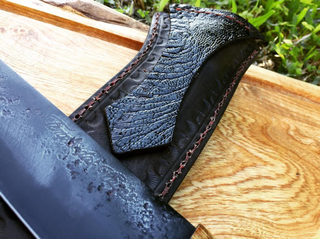 Faca forjada negra de disco de arado antigo 8 polegadas