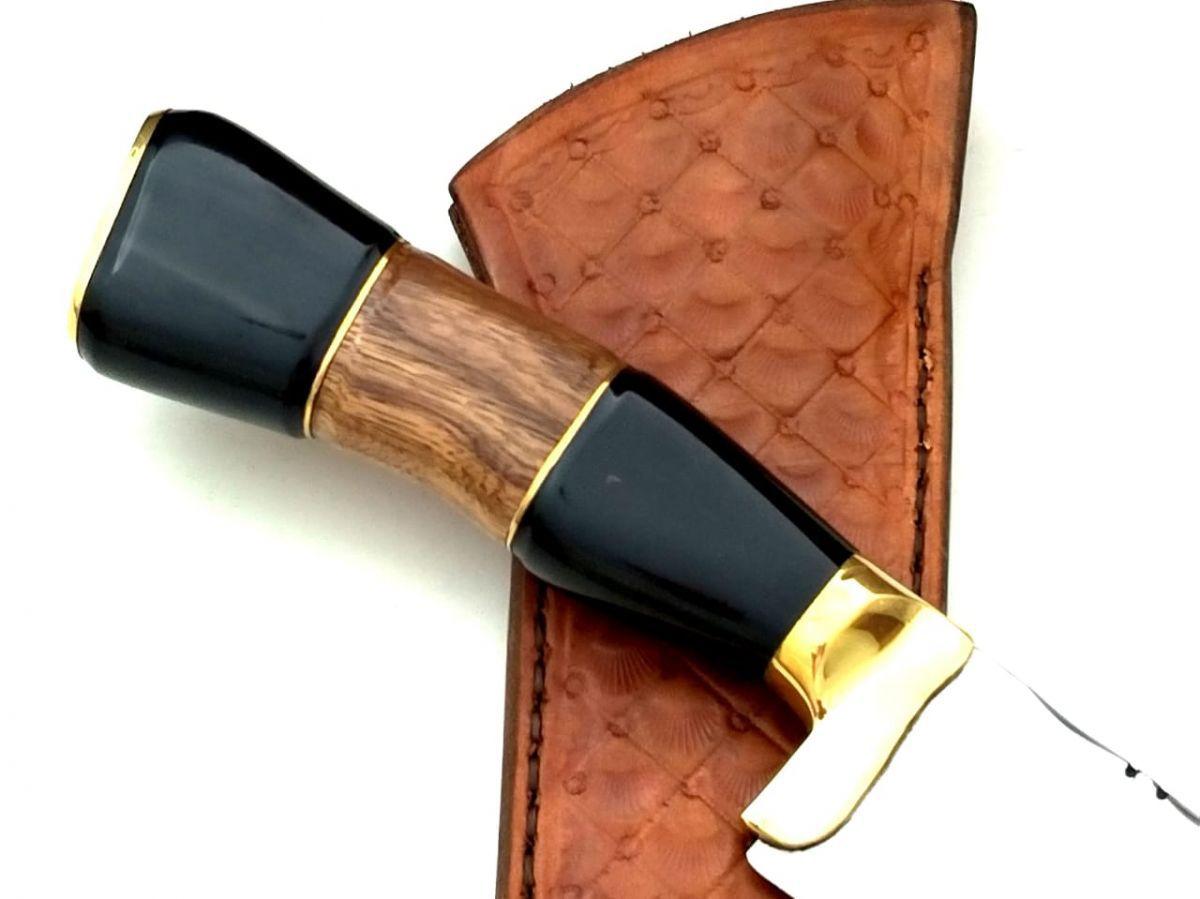 Faca artesanal gaúcha campeira integral aço inox 10 polegadas
