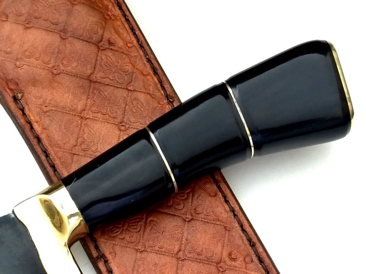 Faca artesanal campeira negra 12 polegadas