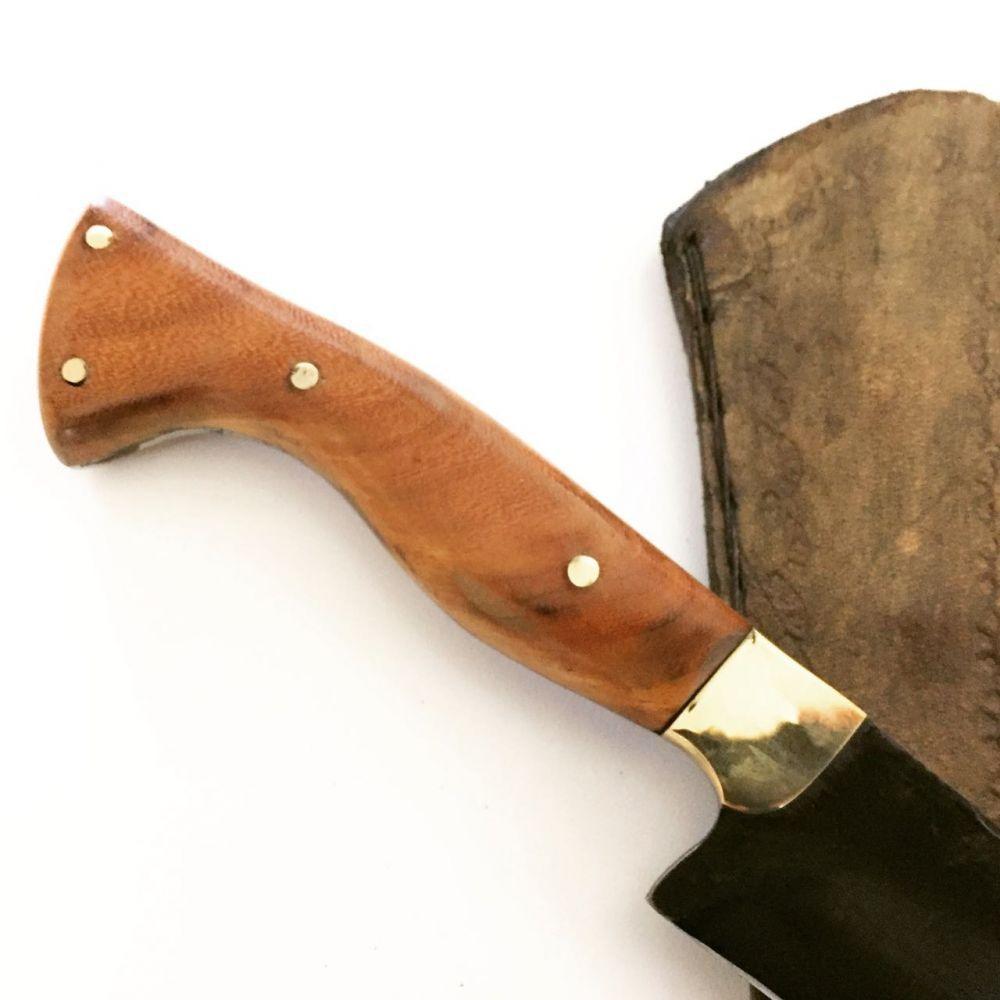 faca artesanal sangria negra 10 polegadas