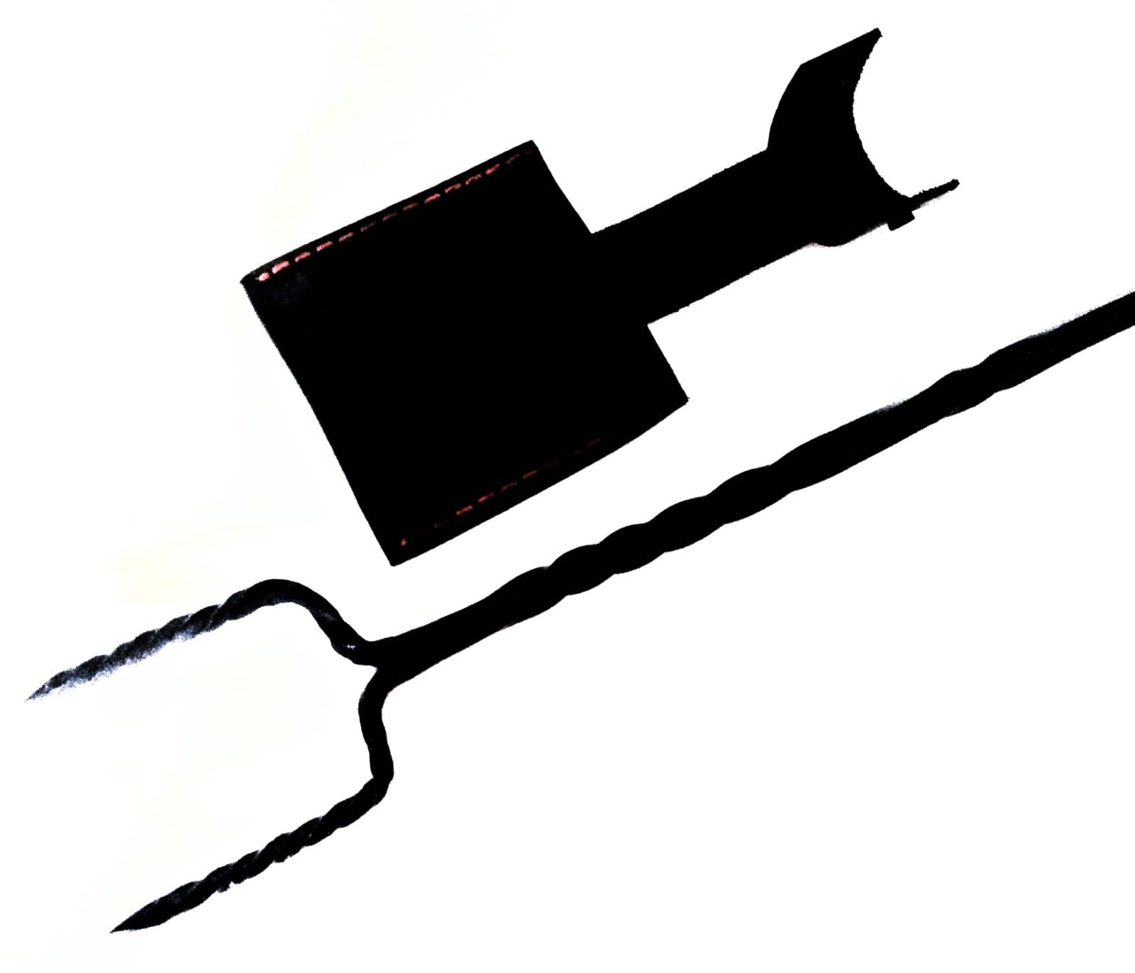 Garfo bruto forjado em aço artesanal  26 polegadas