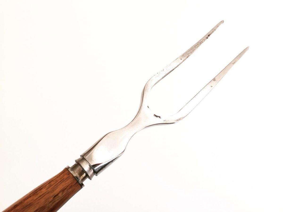 Garfo artesanal forjado para costelão e churrasco 17 polegadas