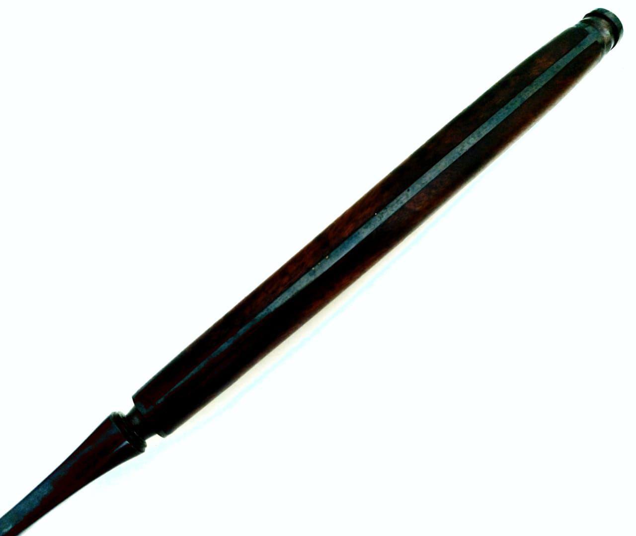 Garfo de churrascada forjado artesanal aço carbono 16 polegadas
