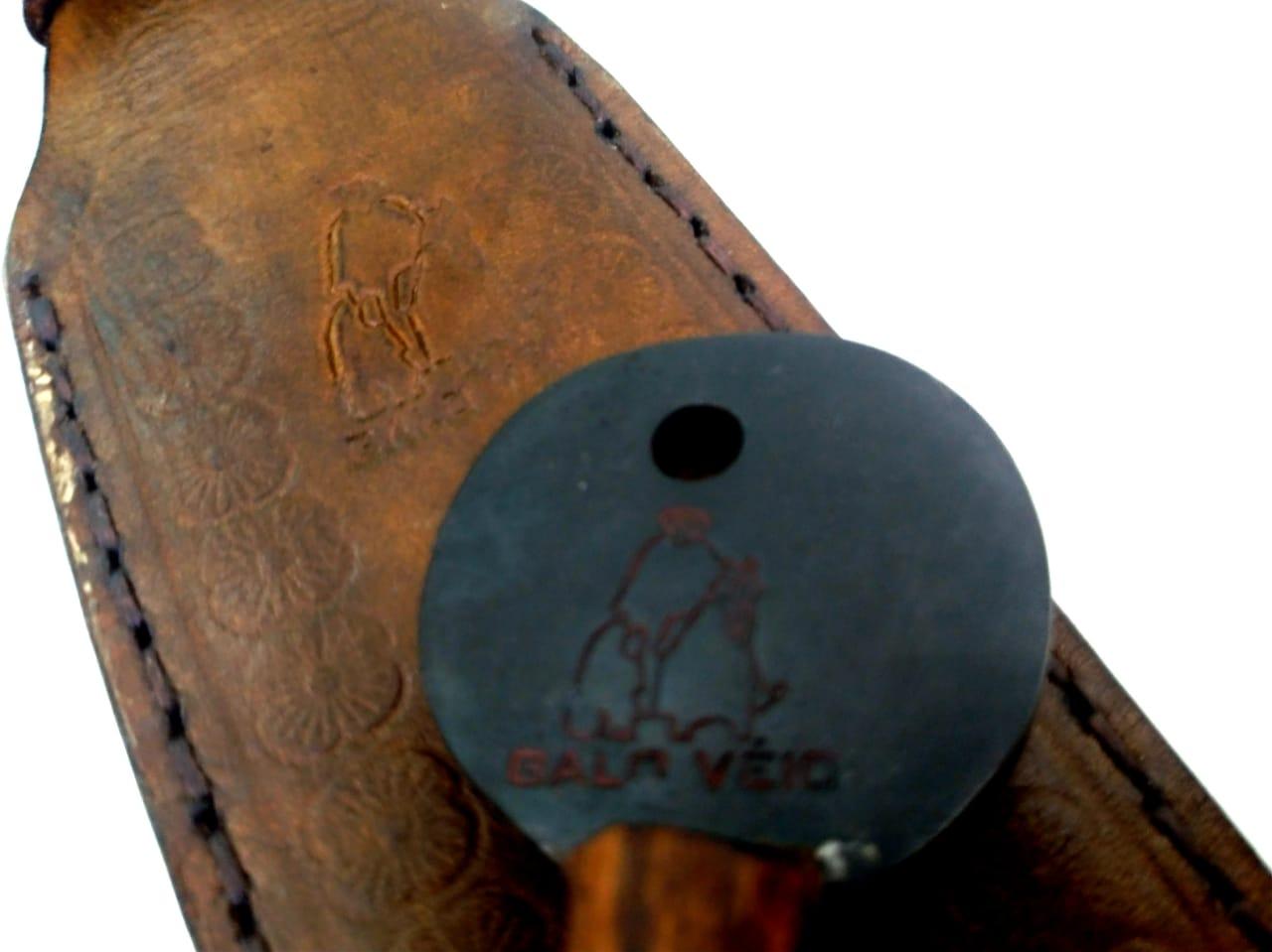 Garfo forjado em aço artesanal  galo véio 21 polegadas