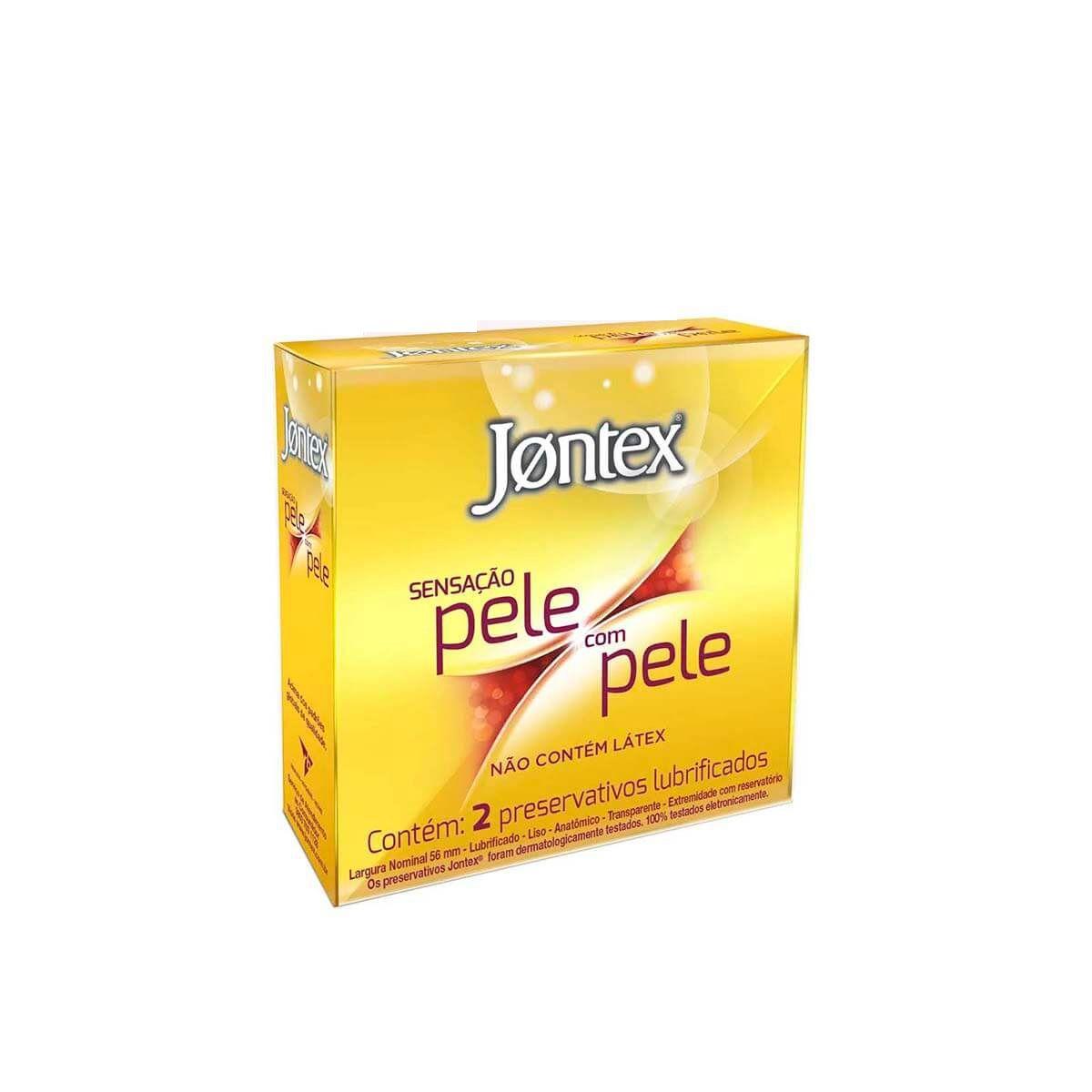 JONTEX PELE COM PELE PRESERVATIVO ANATÔMICO EXTRA FINO