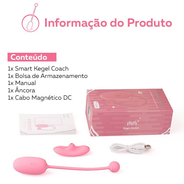 MAGIC MOTION KEGEL COACH SIMULADOR RECARREGÁVEL PARA TREINAMENTO MUSCULAR PÉLVICO VIA APLICATIVO