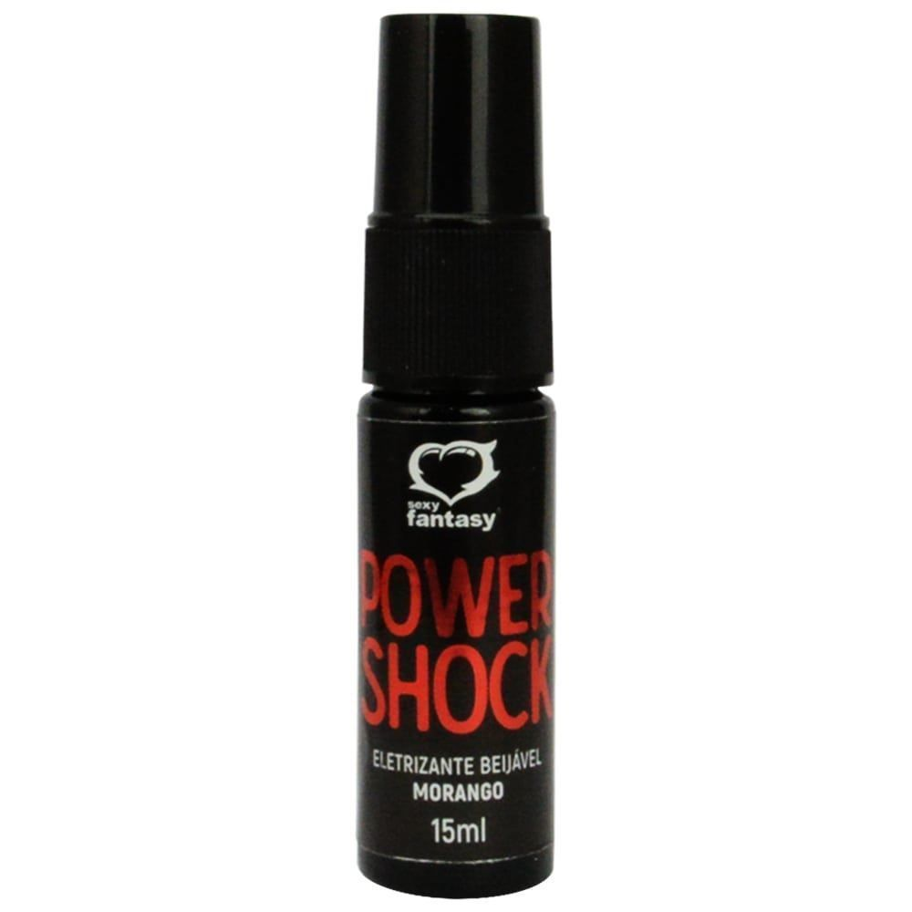 SPRAY ELETRIZANTE BEIJÁVEL POWER SHOCK MORANGO