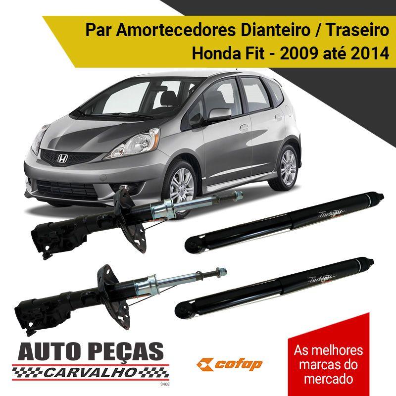 Amortecedores Dianteiro e Traseiro (COFAP) - Honda Fit / City - 2009 2010 2011 2012 2013 2014