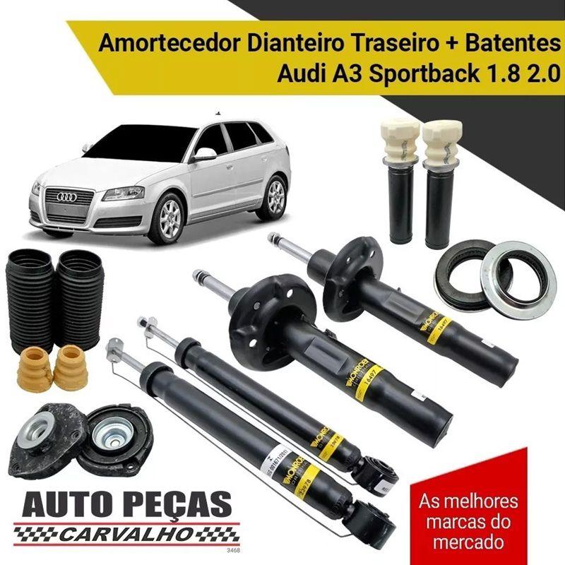 Amortecedor Dianteiro e Traseiro + Kit Batente Audi A3 Sportback 1.6 / 1.8 / 2.0 - 2007 até  2019