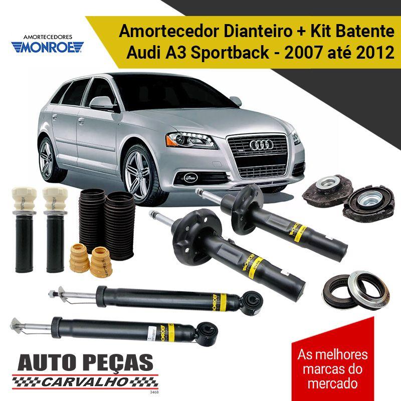 Amortecedor Dianteiro e Traseiro + Kit Batente  Audi A3 Sportback 1.4 - 2007 2008 2009 2010 2011 2012