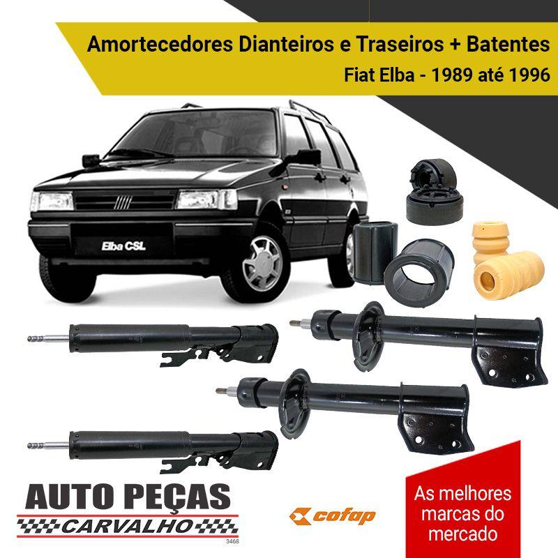 Amortecedor Dianteiro Traseiro + Batentes Fiat Elba - 1989 1990 1991 1992 1993 1994 1995 1996
