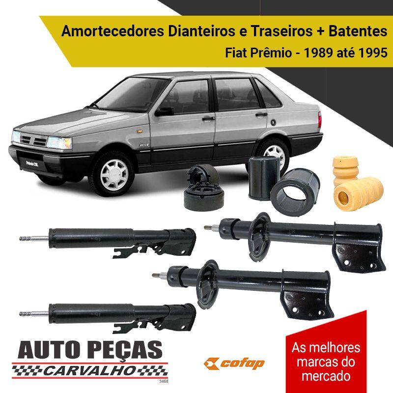 Amortecedor Dianteiro e Traseiro + Batentes Fiat Prêmio - 1989 1990 1991 1992 1993 1994 1995