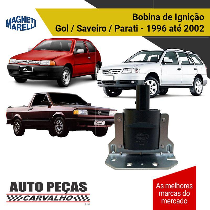 Bobina Ignição (MAGNETTI MARELLI) - Gol / Saveiro / Parati - 1996 1997 1998 1999 2000 2001 2002