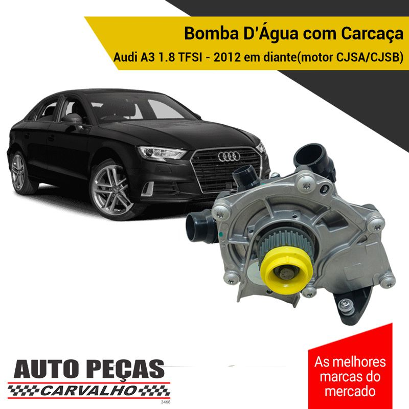 Bomba Água com Carcaça (STARKE) - Audi A3 1.8 TFSI - 2012 2013 2014 2015 2016 2017 2018 2019 2020 (SOMENTE COM MOTOR CJSA / CJSB)