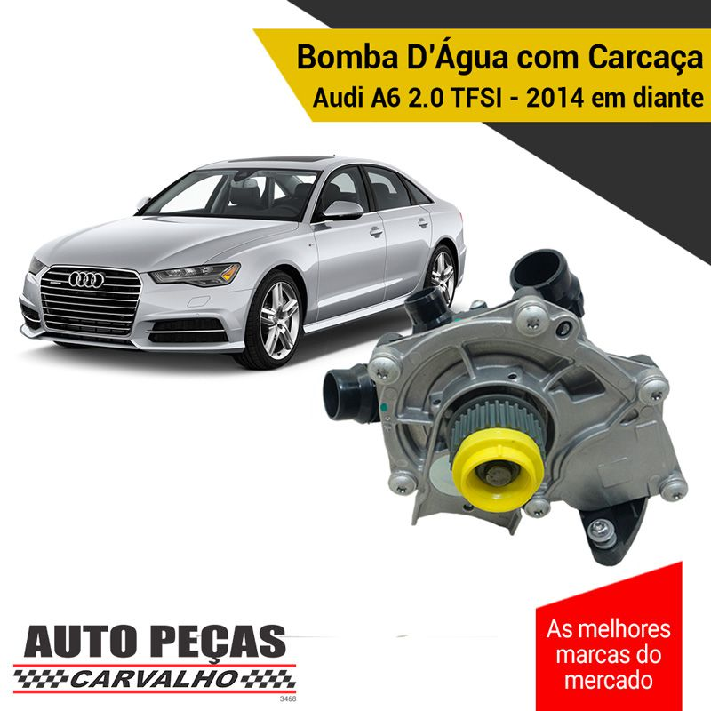 Bomba Água com Carcaça (STARKE) - Audi A6 2.0 TFSI - 2014 2015 2016 2017 2018 2019 (SOMENTE COM MOTOR CYPA / CYNB)